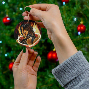 Rahne Victoria | Hotter than Hell Ceramic Ornament