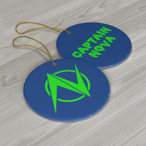 Captain Nova Ceramic Ornament