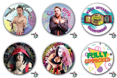 Set of 5 Fully Gimmicked Pogs