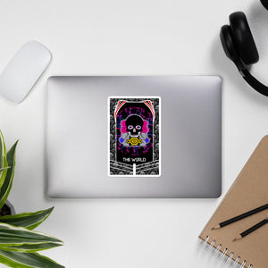 FG The World Tarot Card Art Sticker