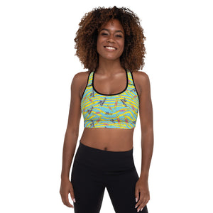 Fully Gimmicked Z-Stripe | Padded Sports Bra
