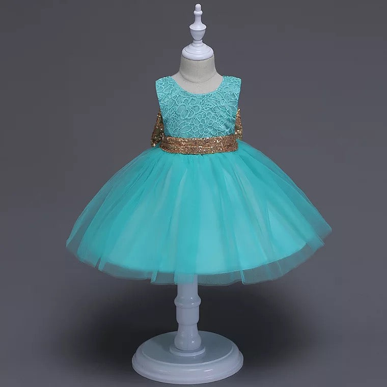 Ariel Dress in Turquoise