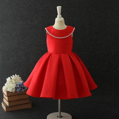 Florence Dress in Ruby