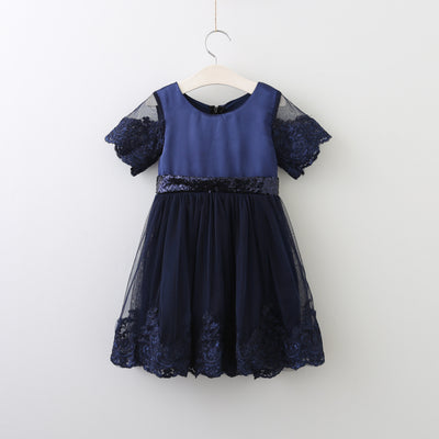Adele Dress in Navy