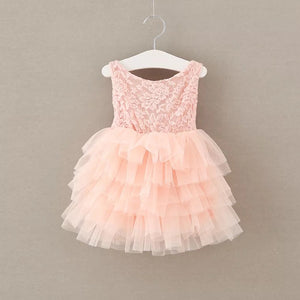 Thumbelina Dress in Peach