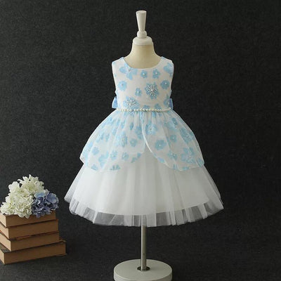 Evie Dress in Sky Blue