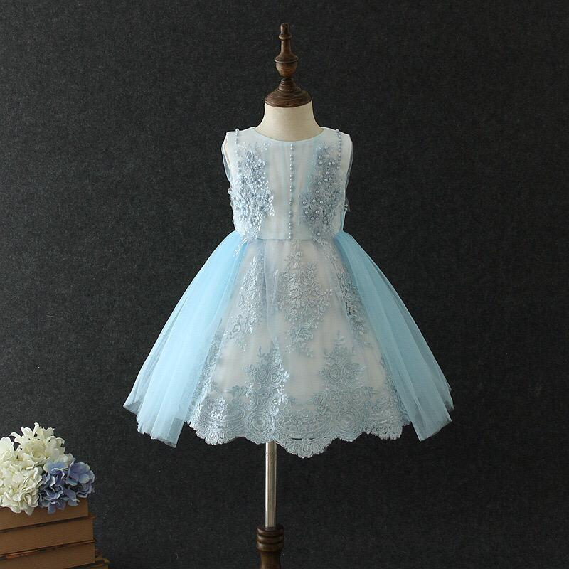 Harper Dress in Sky Blue