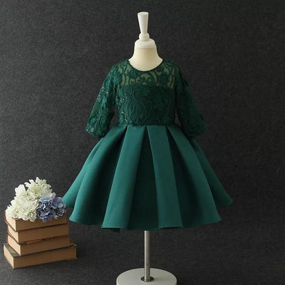 Amelia Dress in Emerald