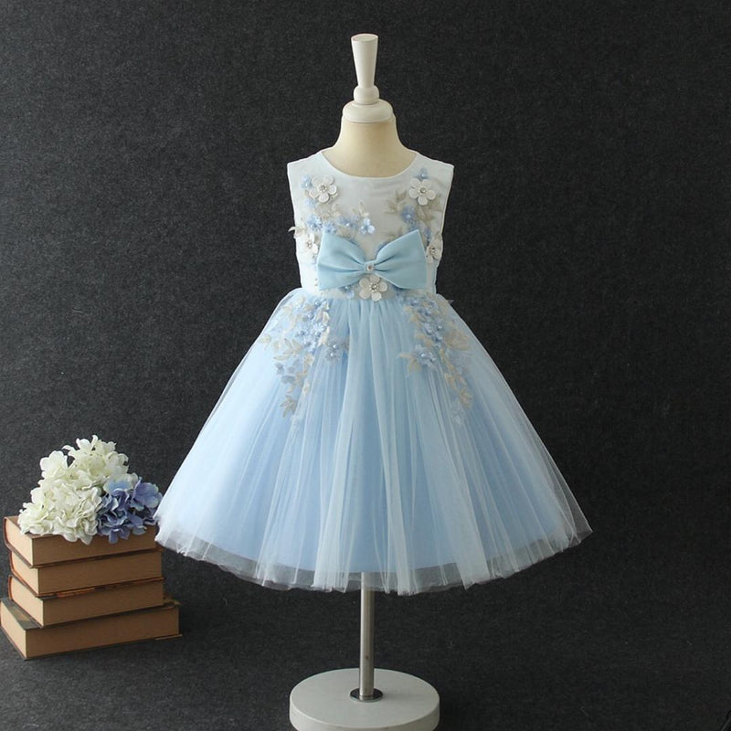 Elise Dress in Sky Blue