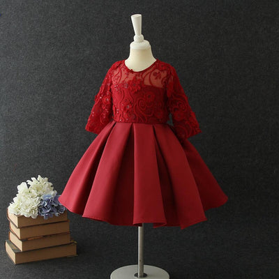 Amelia Dress in Ruby
