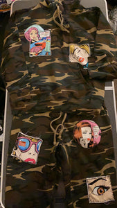 Fleece Camo Pop Art Jogger Set