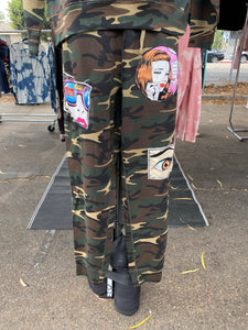 Fleece Camo Pop Art Joggers