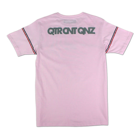 T-SHIRT QTR TRICOLORE ROSE
