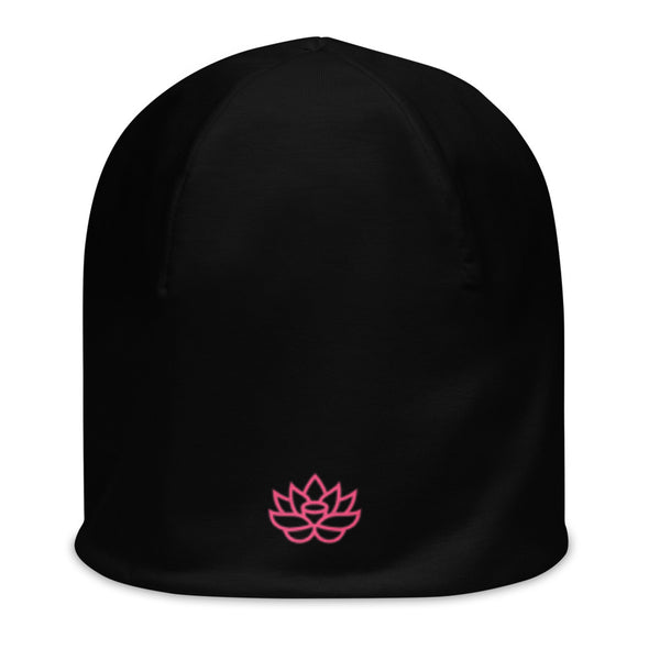 Toque Beanie Black and Pink