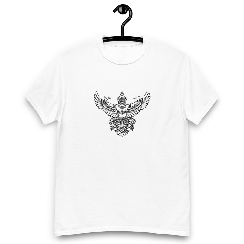 White T-Shirt w/ Thai Garuda