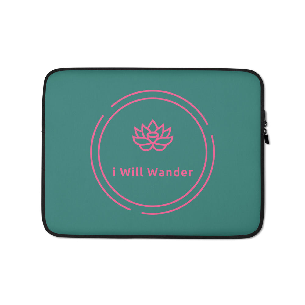 Laptop Sleeve - Green + Pink
