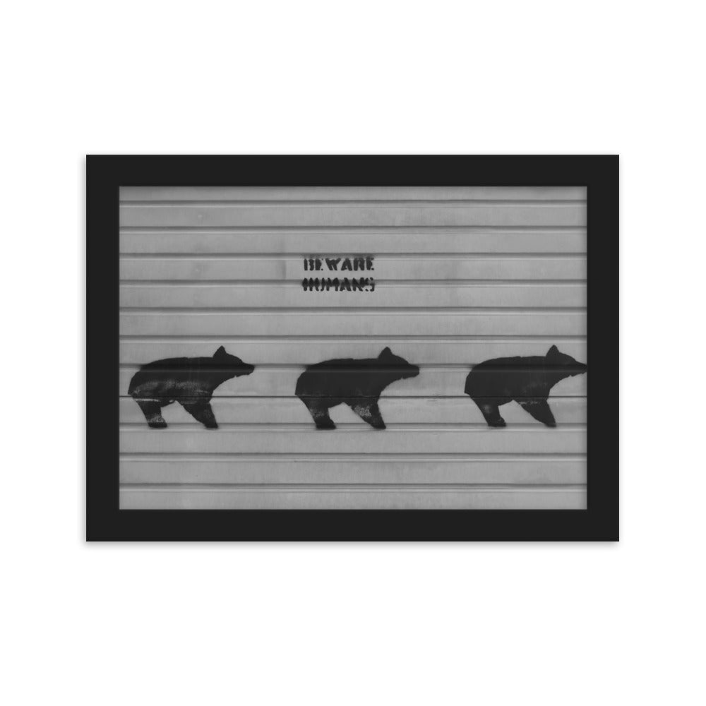 Warning Poster For Bears