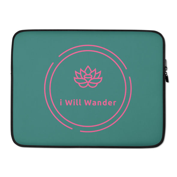 Laptop Sleeve - Pink + Green