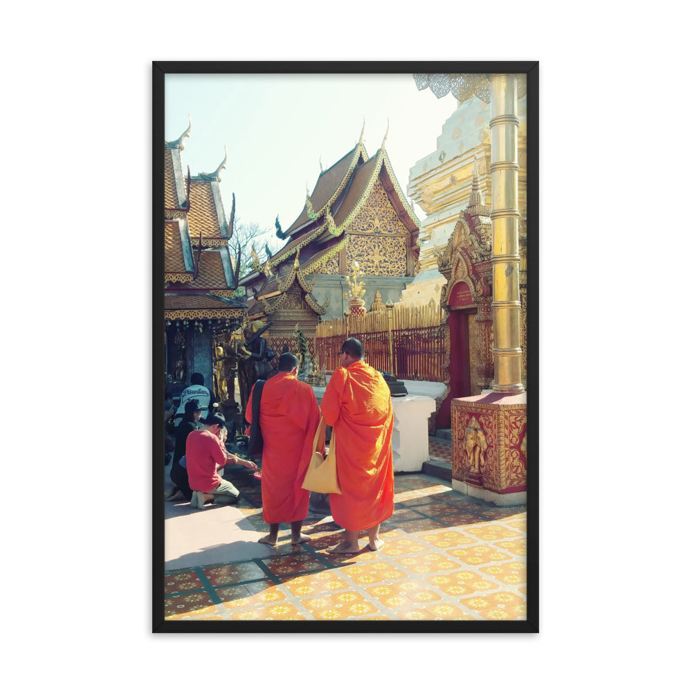 Chiang Mai, Thailand Golden Temple + Monks