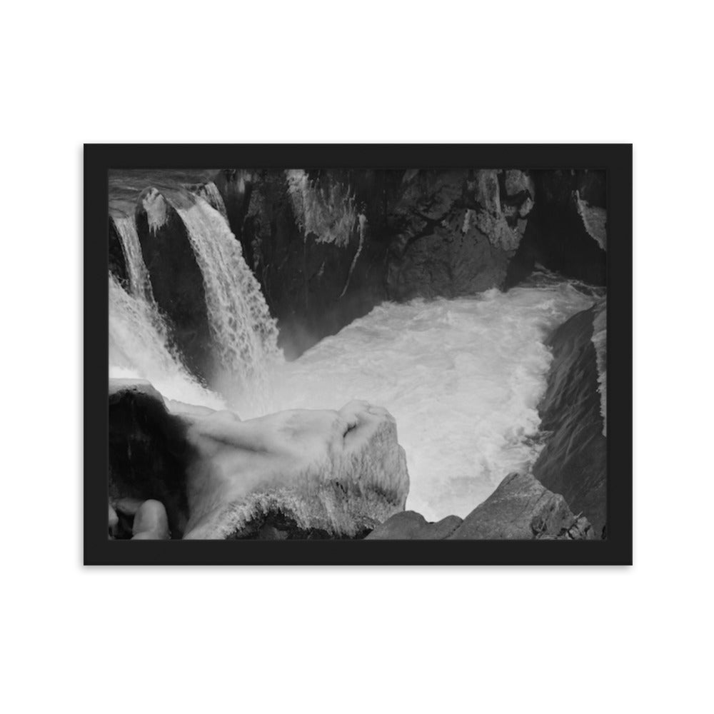 Waterfall in Whistler - Black and White