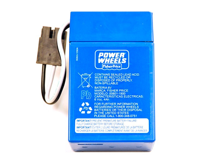 Power Wheels® Blue Battery ( 6 Volt 4 Amp)