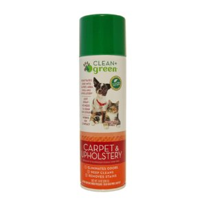 Clean   Green Carpet & Upholstery Pet Odor & Stain Remover - 14 OZ.