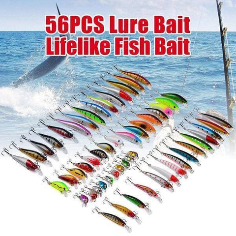 Brag Fishing ™ 56 Pcs Lure Kit a lure for every fish!