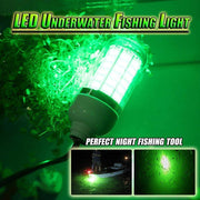 Brag Fishing 12V 120LED 1000Lumens Lure Bait 10W  Deep Drop Underwater Light