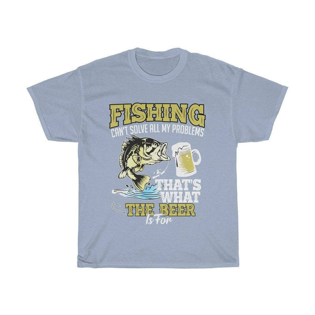 Fishing can't solve all my problems- Unisex Heavy Cotton Tee - Brag Fishing Australia