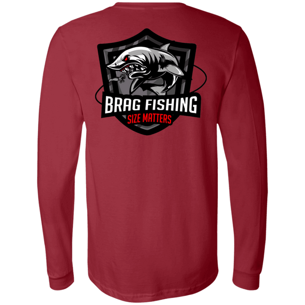 3501 Bella + Canvas Men's Jersey LS T-Shirt - Brag Fishing