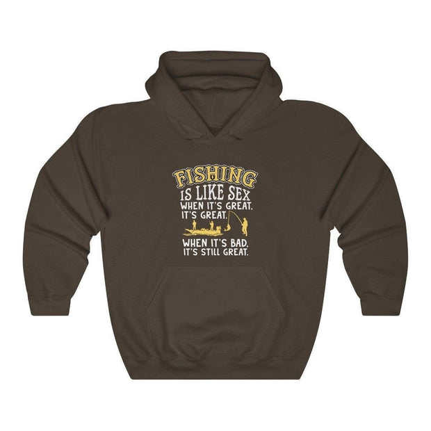 Fishing is like sex Unisex Heavy Blend™ Hooded Sweatshirt - Brag Fishing