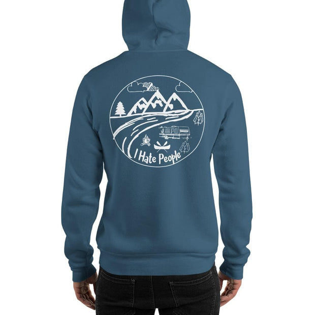 I hate people hooded Sweatshirt - Brag Fishing