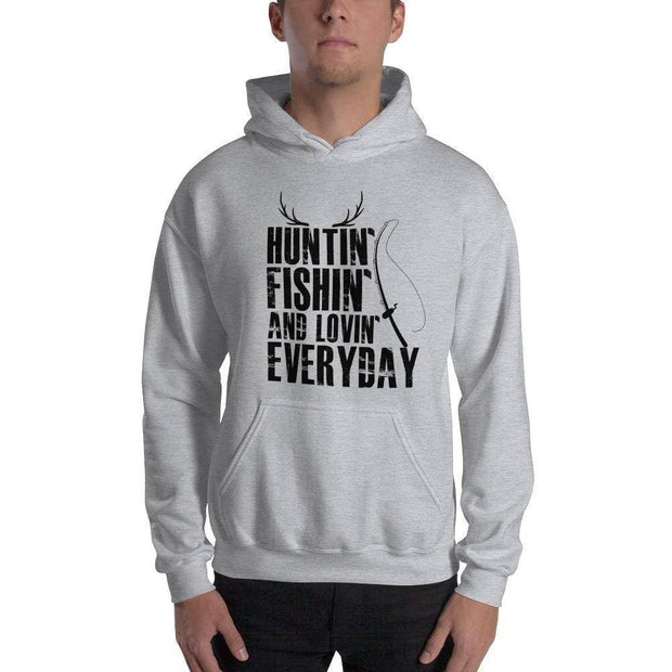 Hunting and fishing and loving everday Hooded Sweatshirt - Brag Fishing Australia