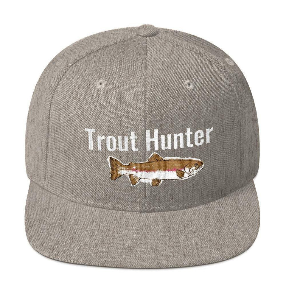 Trout Hunter Snapback Hat