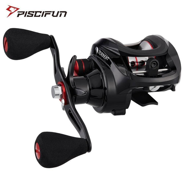 Piscifun Torrent fishing Reel 8.1kg Carbon Drag 7.1:1 5.3:1 Gear Ratio 6 Bearings Magnetic Brake Low Profile Baitcasting Reel - Brag Fishing