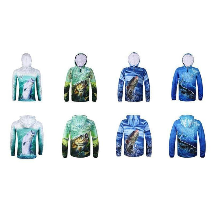 SPORTSHUB Ultra-Light Hooded Fishing Clothings Quick Dry Sun Protection Fishing Shirts Anti-UV Fishing Clothes Ves - Brag Fishing