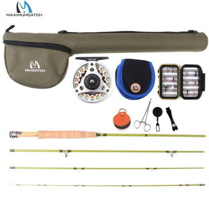 Small Stream Creek Fly Fishing Rod Aluminum Reel Line Kit 6ft-7.6ft 1/2/3wt