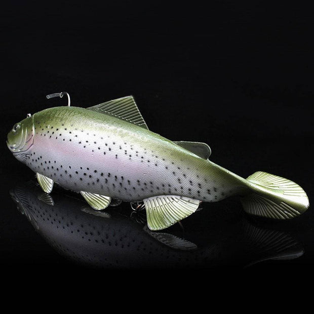 Simulation Soft Fishing Lure Sea Boat 3D Eyes Fishing Artificial Baits with Treble Hook and Single hook - Brag Fishing