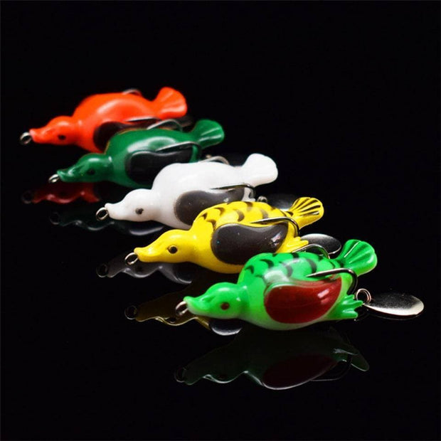 Popper Frog 13g 6.5cm Duck Frog Lures Soft Baits For Snakehead Bass Lures Frog Fishing Floating Topwater - Brag Fishing