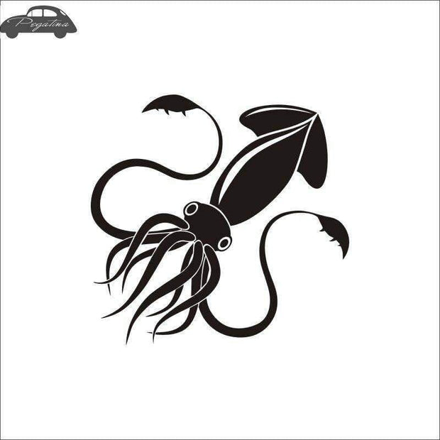 Pegatina Sleeve-fish Fish Squid Car Decal Octopus Posters Boat Decals Decor Mural Wall Sticker Angling Hooks Shop Vinyl - Brag Fishing Australia