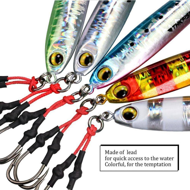 1pcs 60g 2.1oz Fishing Jigging Spoon Lures 3D Eyes - Brag Fishing Australia