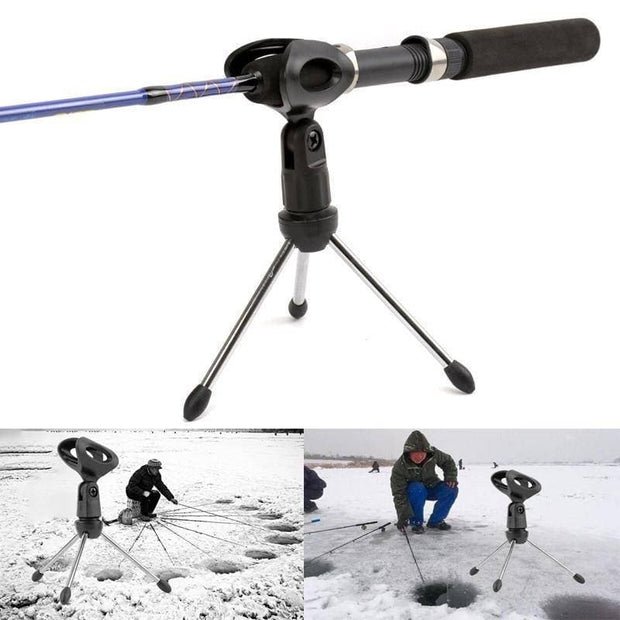 Winter Ice Fishing Pole Supports Stand Fishing Rods Folding Ice Fishing Rod Holder Small Triangle Bracket - Brag Fishing Australia