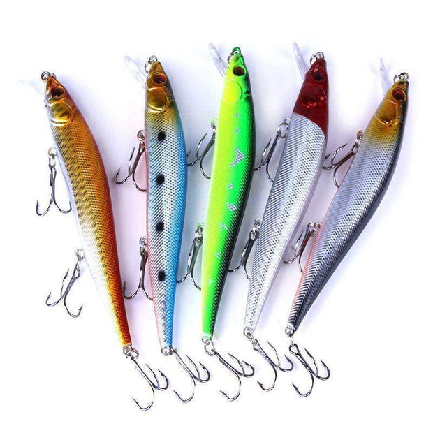 13cm 23g Tungsten balls long casting New model fishing lures hard bait dive 1.3 - 2m quality professional minnow - Brag Fishing Australia