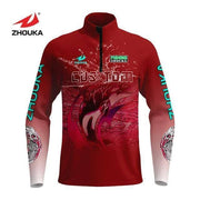 Jersey Fishing Clothing Long Sleeve Uv Protection Quick Dry Fishing Shirt With Fish Pattern Fishing Tops - Brag Fishing