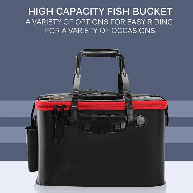 Portable Multifunction Foldable Fishing Bucket Live Fish Box - Brag Fishing