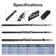 19Pcs 2.4M Professional Fishing Rods Reels Combos Spinning Reel - Brag Fishing