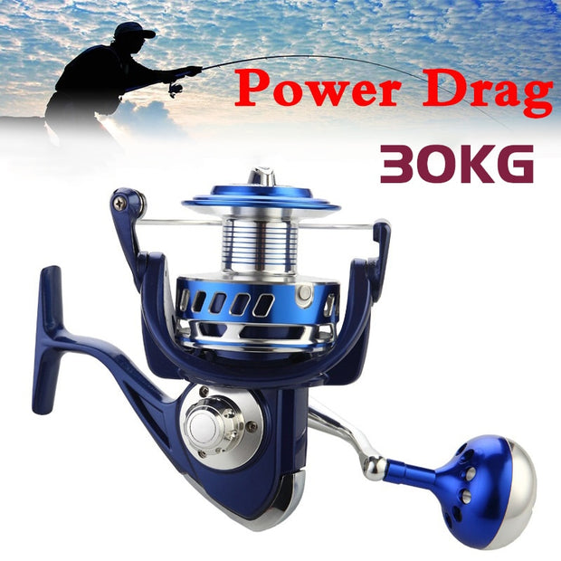 Brag 30KG Power Drag All Metal Spinning Reels - Brag Fishing