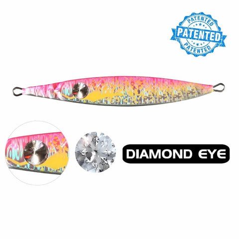 ECOODA  Tiger Series Luminous Color with Diamond eye Deep-sea Fishing Speed Jig Inchiku Jigging Fishing Bait Lures 200g(7oz)
