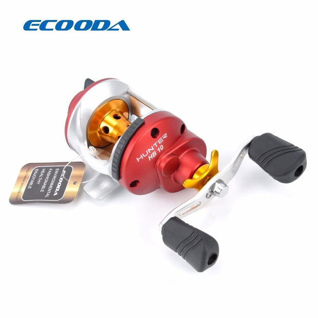 ECOODA Hunter High Speed Small Size Bait Casting Trolling Reel 2.5kg Drag Power 6.1:1 Ice Fishing Reel HB10 Right Hand - Brag Fishing