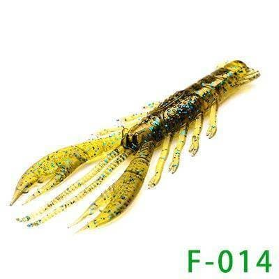 Crawfish Fishing Soft Lure Shake Shrimp 3 Inches 4 Pieces/Bag - Brag Fishing